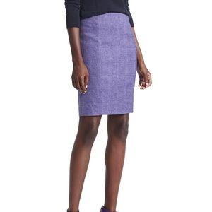 Banana Republic Purple Herringbone Pencil Skirt